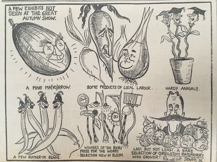 360919 Ronald Searle vegetable show Cartoon